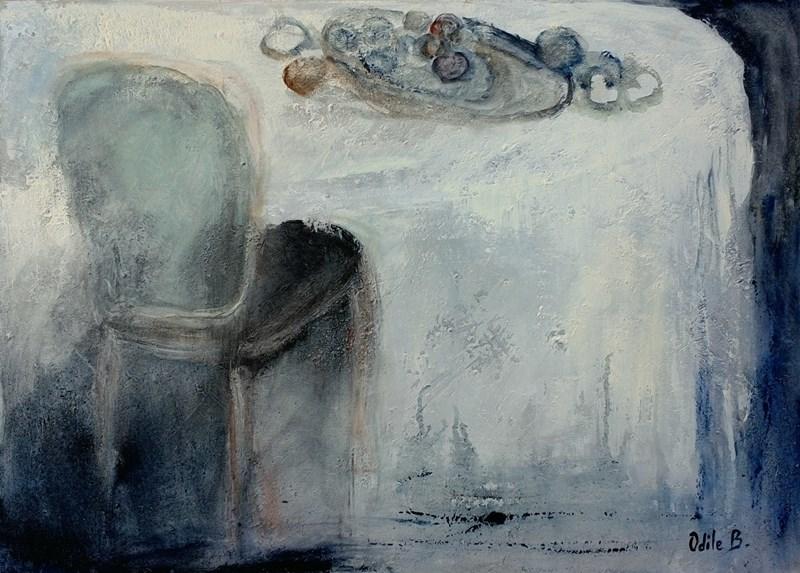 peinture - La nappe blanche