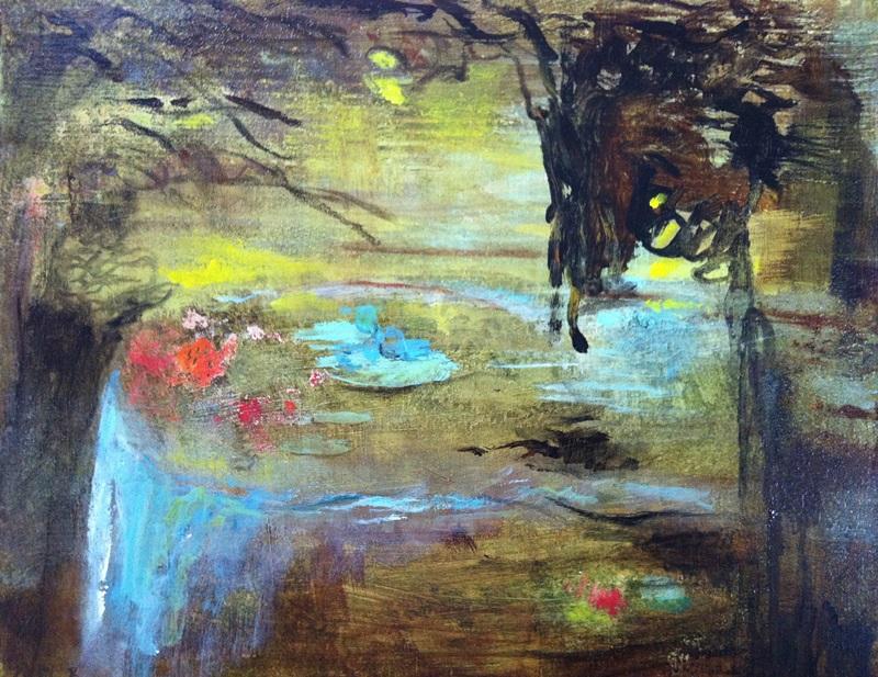 Peinture - La table ondine