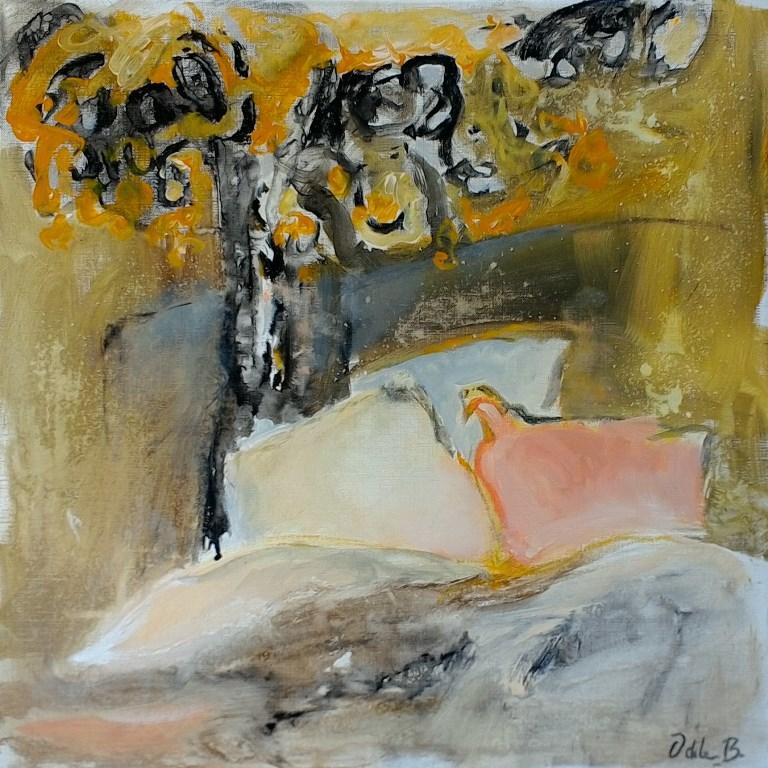 Peinture - les oreillers amoureux
