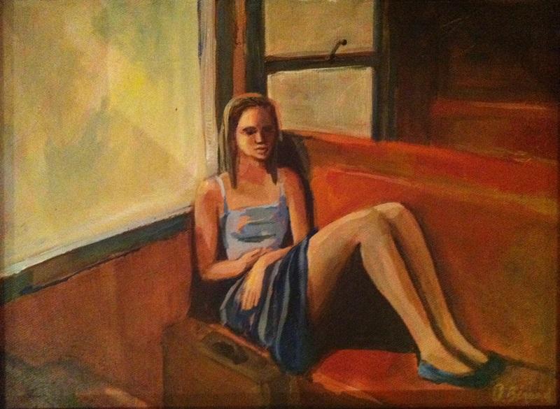 Peinture - La fille du train